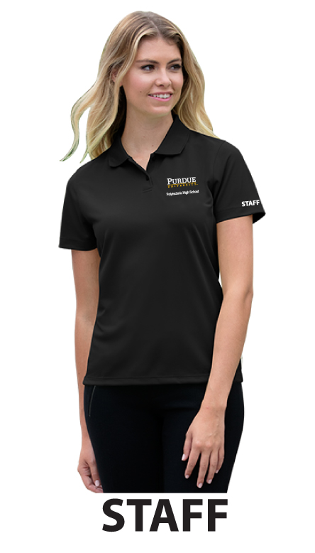 Vansport Omega Solid Mesh Tech Women's Staff Polo